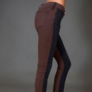 KORAL Super Skinny Jeans, Black on Brown, SIZE 27
